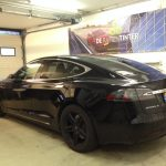 Voorbeeld geblindeerde ruiten Tesla model s